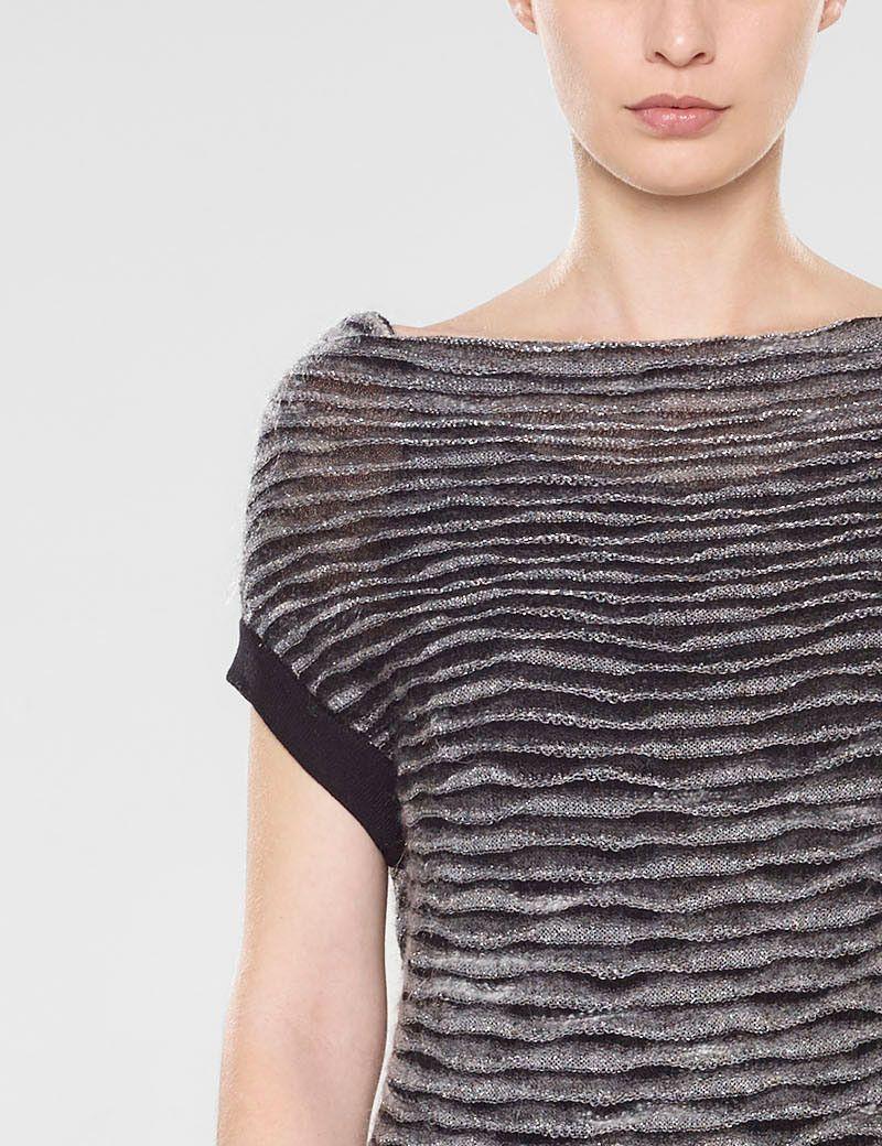 Sarah Pacini Ärmelloser sweater mit schalkragen