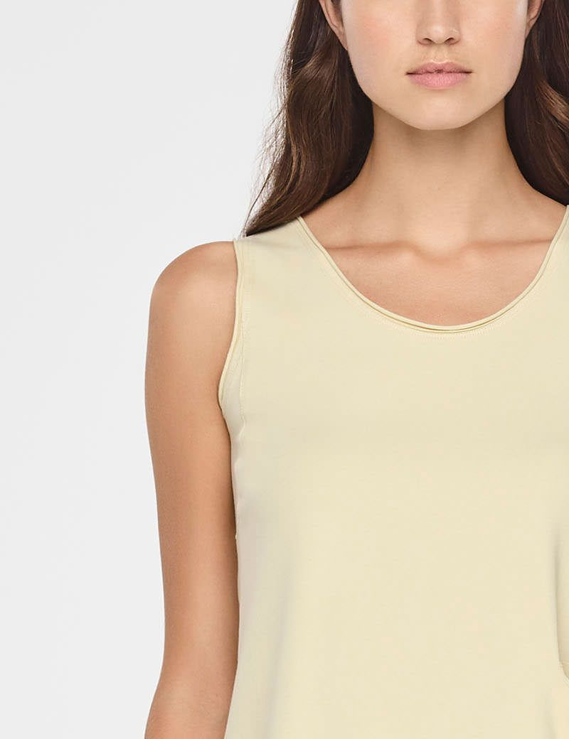 Sarah Pacini A-LINE COTTON SHIRT - SLEEVELESS