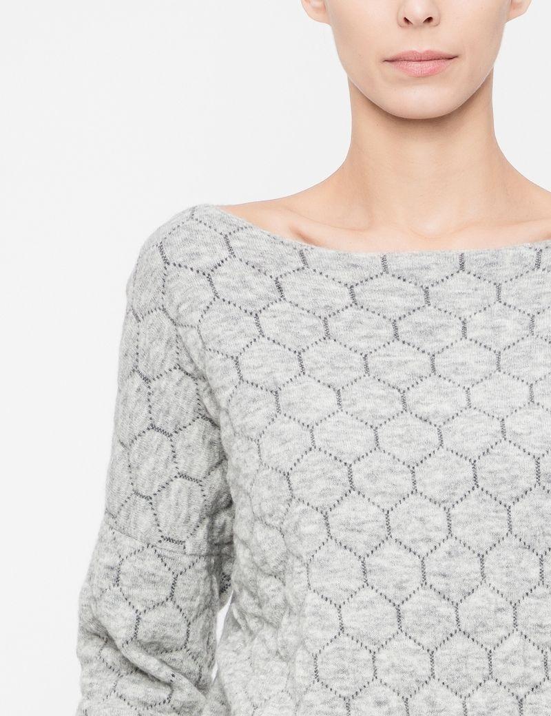 Sarah Pacini Trui met honingraatmotief - lange mouwen
