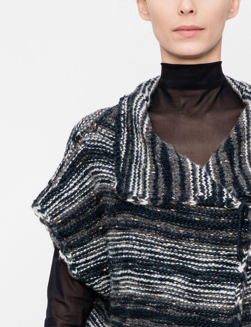 Sarah Pacini Cardigan en laine - motif ligné