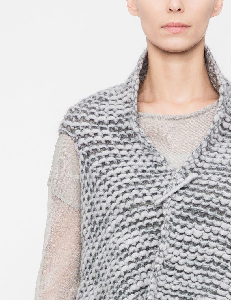 Sarah Pacini Chiné cardigan - textured knit