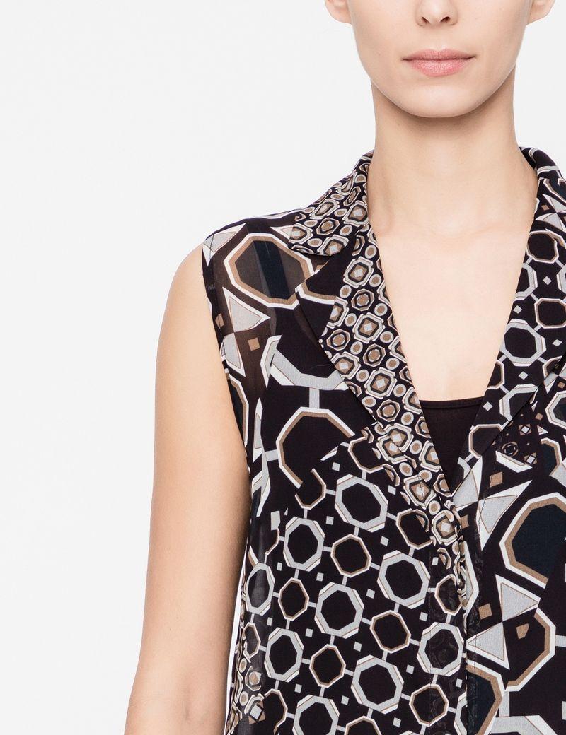 Sarah Pacini Printed shirt - sleeveless