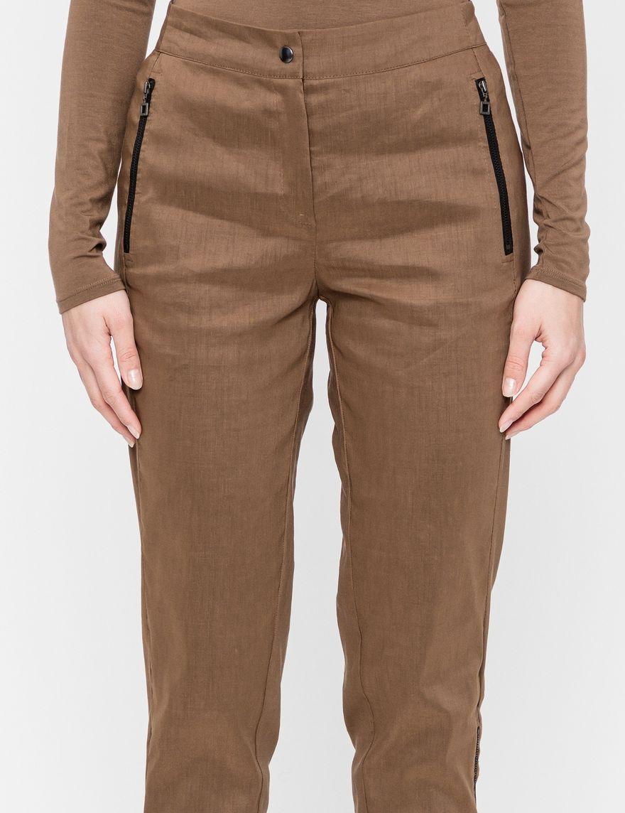 Sarah Pacini Pantalon lin stretch - détails mesh