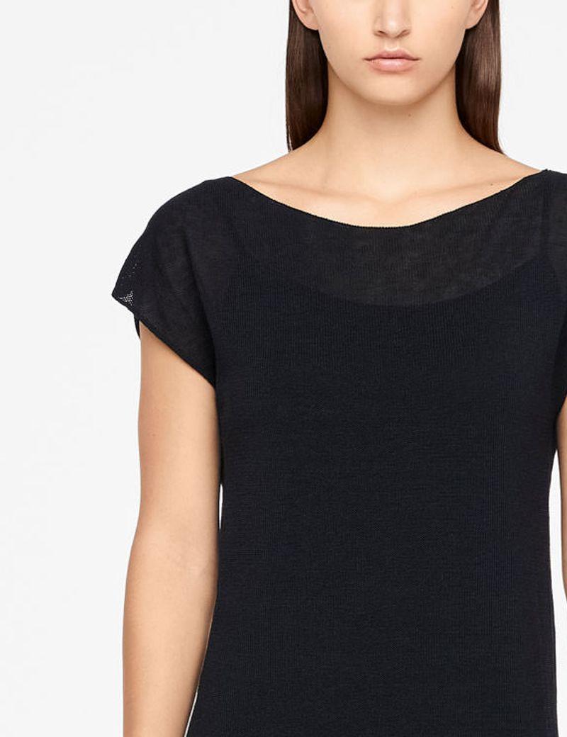 Sarah Pacini LINEN DRESS - CAP SLEEVES