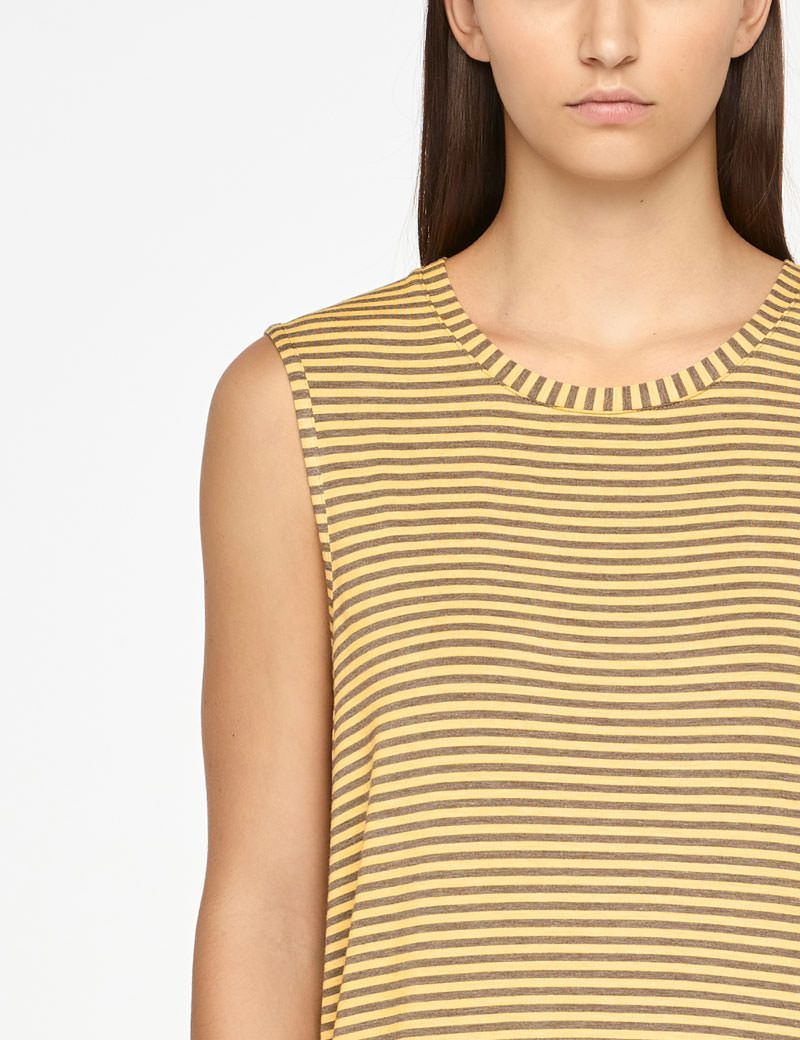 Sarah Pacini STRIPED TOP - SLEEVELESS