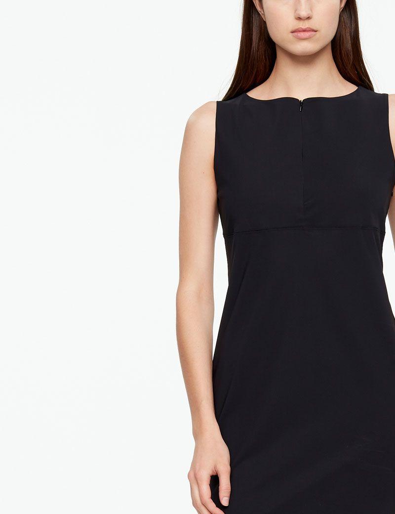 Sarah Pacini STRAIGHT DRESS - TECHNO FABRIC