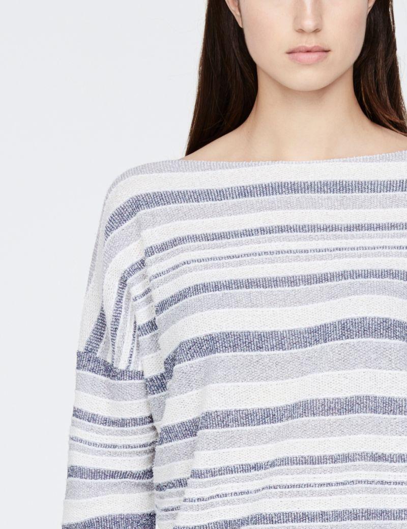 Sarah Pacini trui met lange mouwen - vervaagde strepen