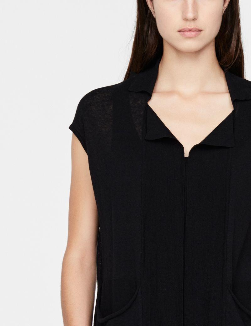 Sarah Pacini Linen-cotton cardigan