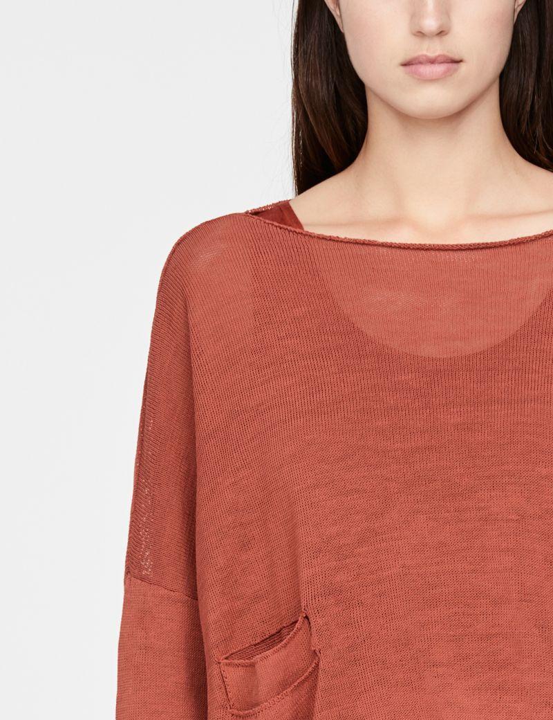 Sarah Pacini Cropped linen sweater - mandana