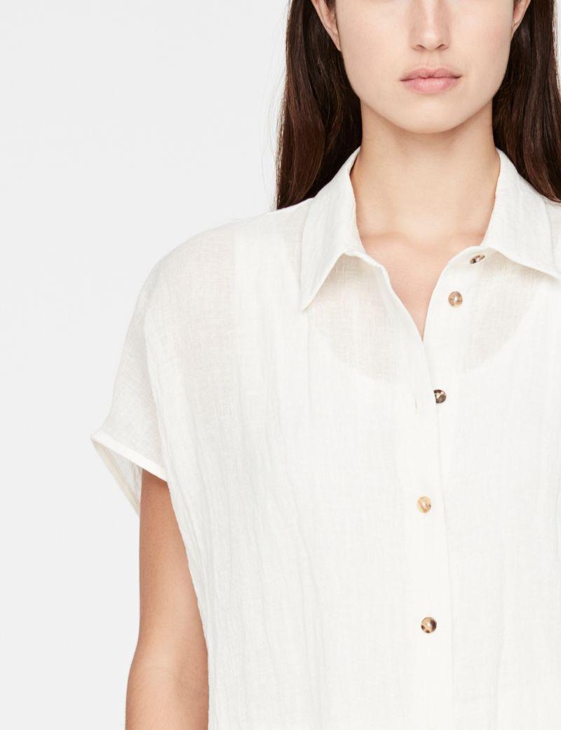 Sarah Pacini linnen hemd - ruw weefsel