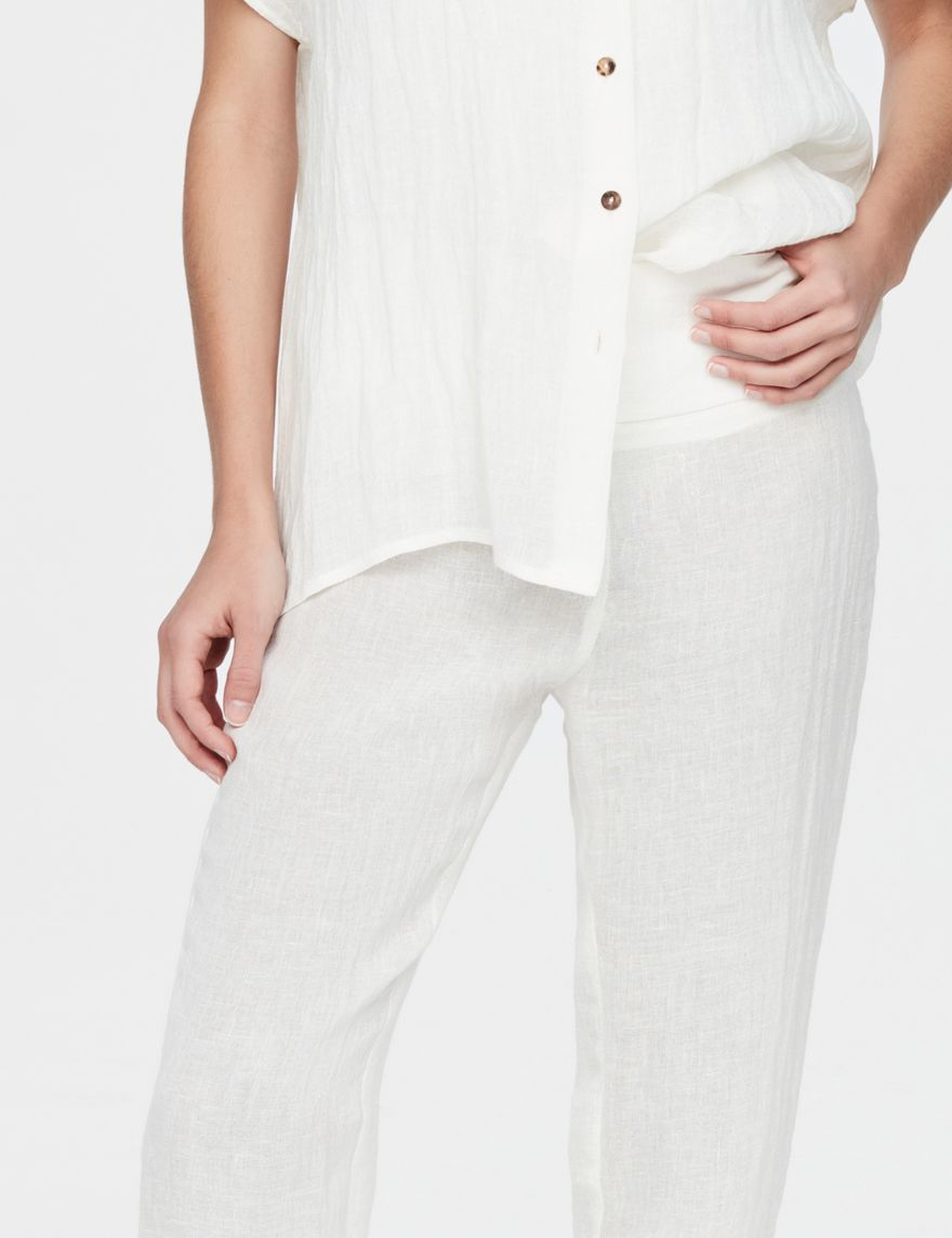 Sarah Pacini Linen pants - rustic weave