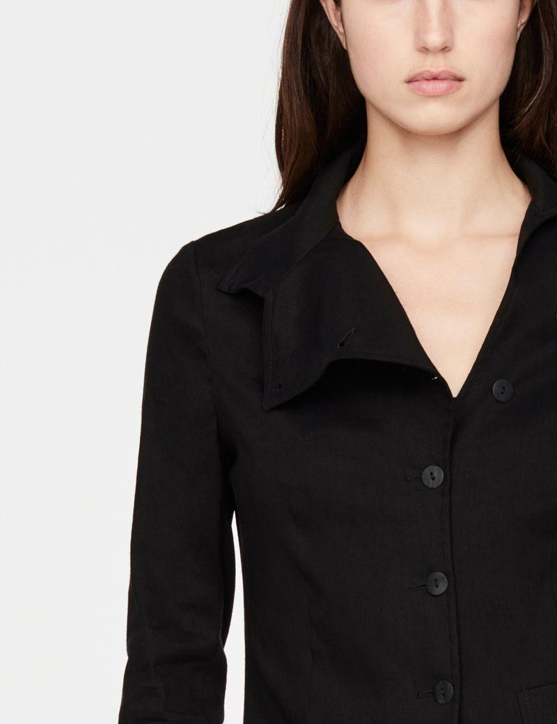 Sarah Pacini linnen jasje - asymmetrisch
