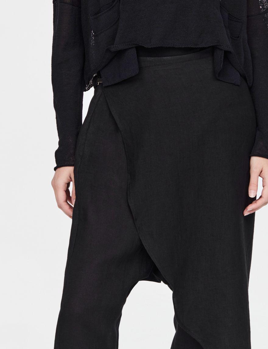 Sarah Pacini Pantalon sarouel en lin