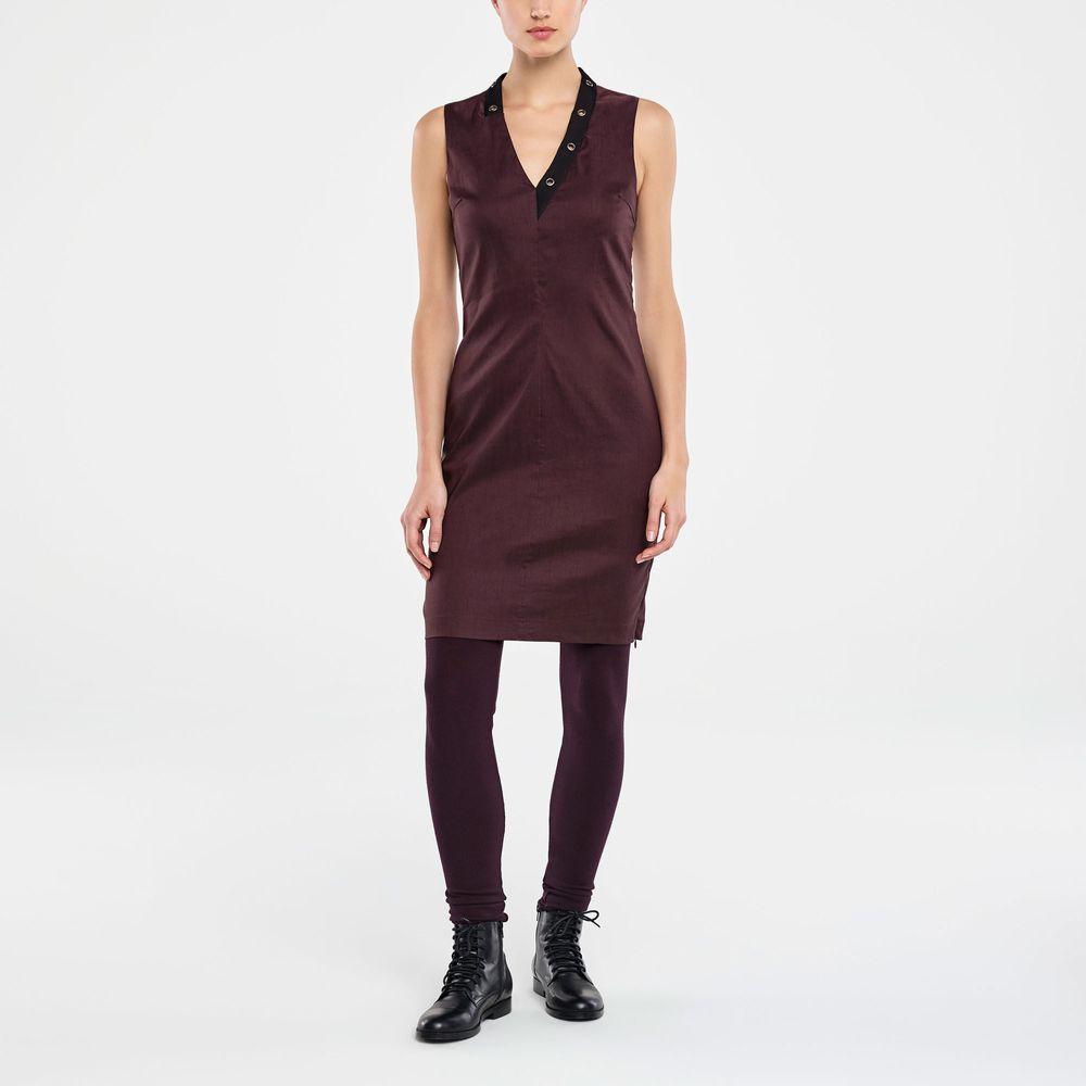 Sarah Pacini KNEE-LENGTH DRESS - STRETCH LINEN