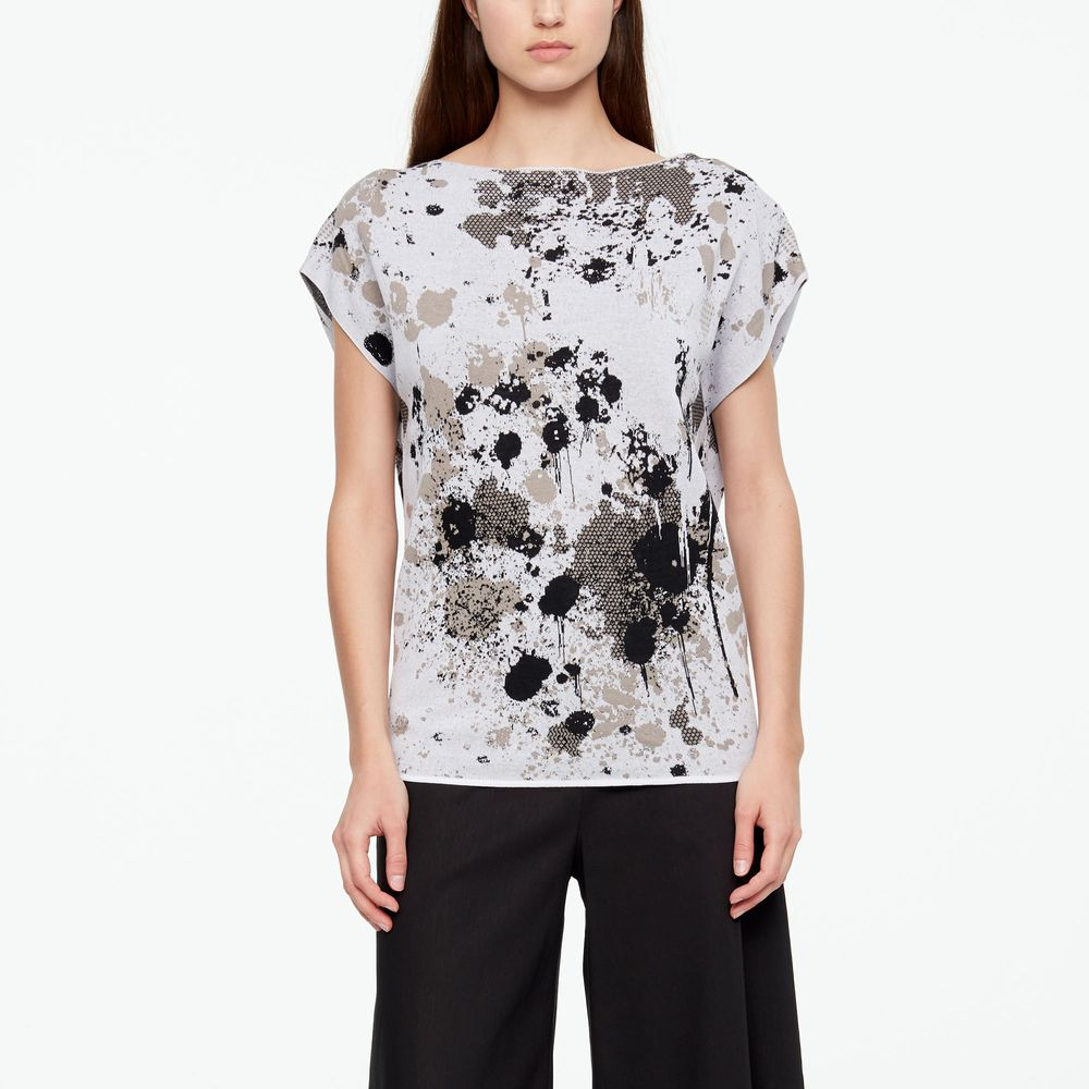 Sarah Pacini MURAL SWEATER - CAP SLEEVES