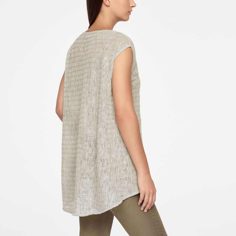 Sarah Pacini LINEN SWEATER - STRIPED