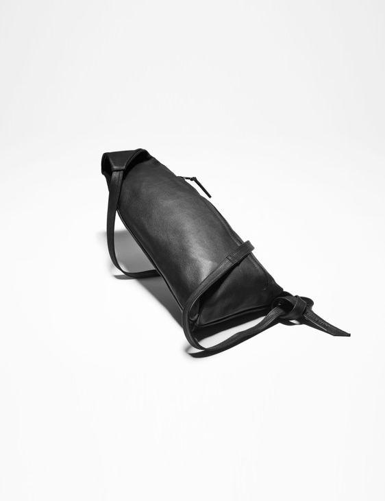 Sarah Pacini LEATHER CROSSBODY BAG