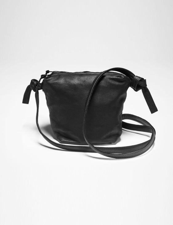 Sarah Pacini SMALL LEATHER SHOULDER BAG