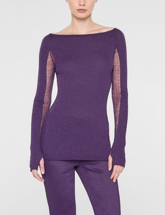 Sarah Pacini Langer taillierter sweater