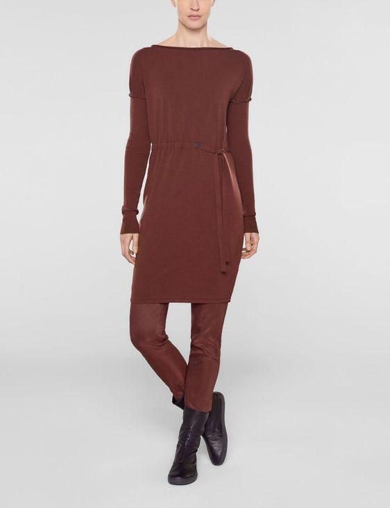 Sarah Pacini Long sweater with soft belt