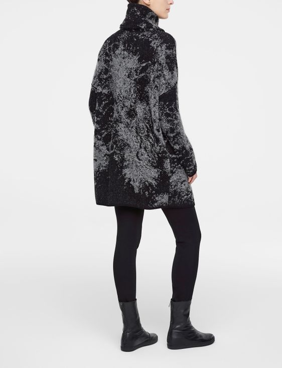 Sarah Pacini Jacquard long cardigan