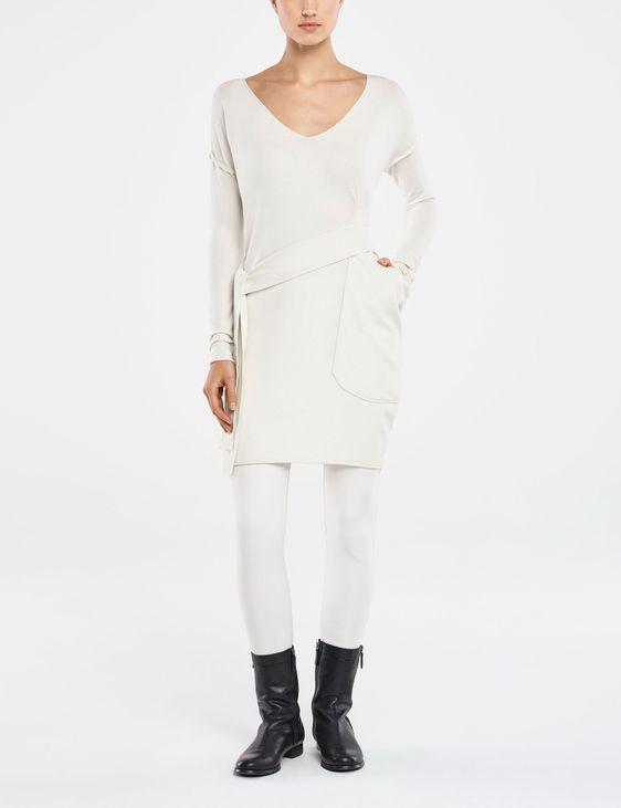Sarah Pacini KNEE-LENGTH DRESS WITH SASH