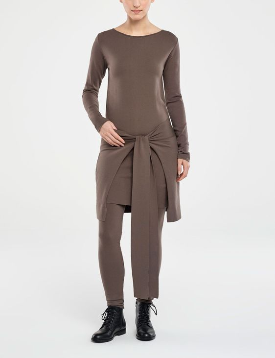 Sarah Pacini DRESS - ZIPPED PANEL