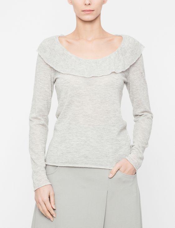 Sarah Pacini Sweater - flounce neckline