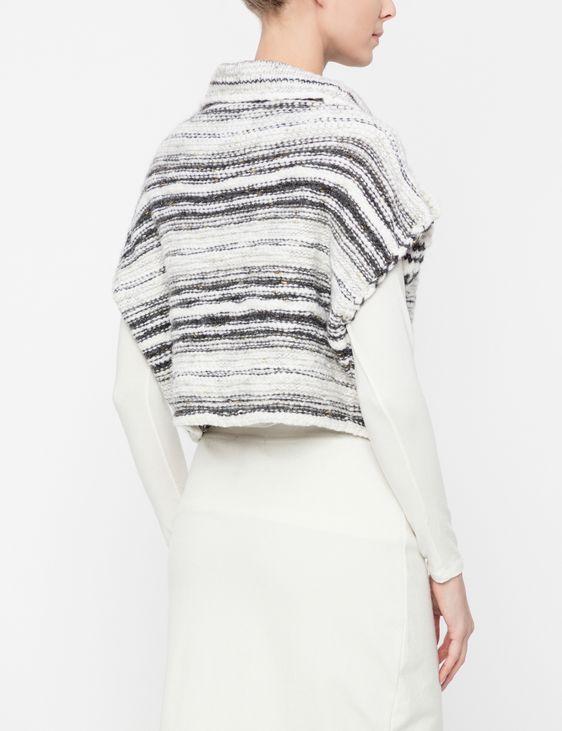 Sarah Pacini Wool cardigan - shimmering stripes