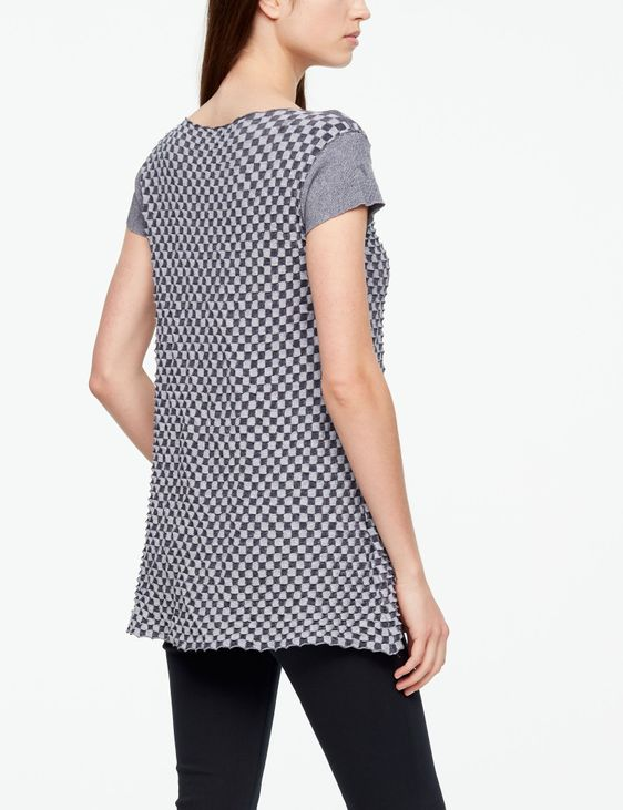 Sarah Pacini MAKO COTTON SWEATER - DAMIER