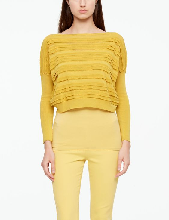 Sarah Pacini MAKO COTTON SWEATER - CROPPED
