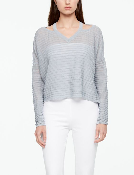 Sarah Pacini LINEN SWEATER - RELIEF