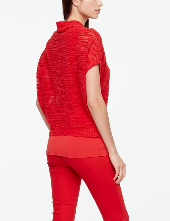 Sarah Pacini PULL MANCHES COURTES - MAILLE FANTAISIE