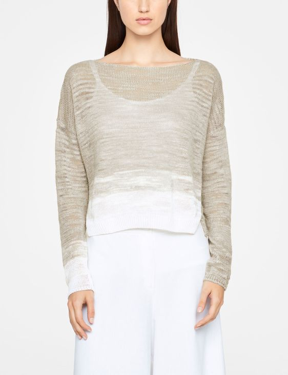Sarah Pacini OMBRE SWEATER - SIDE SLITS