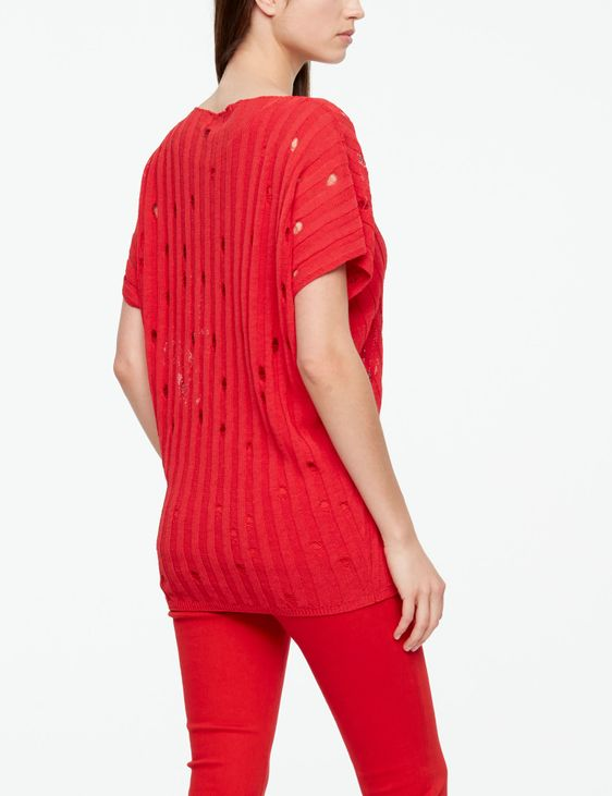 Sarah Pacini LINEN SWEATER - V-NECK