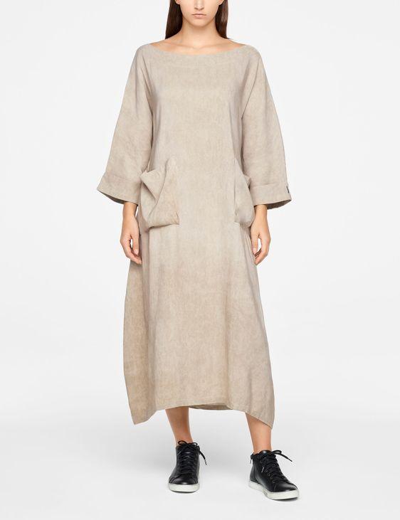 Sarah Pacini LINEN DRESS - MAXI