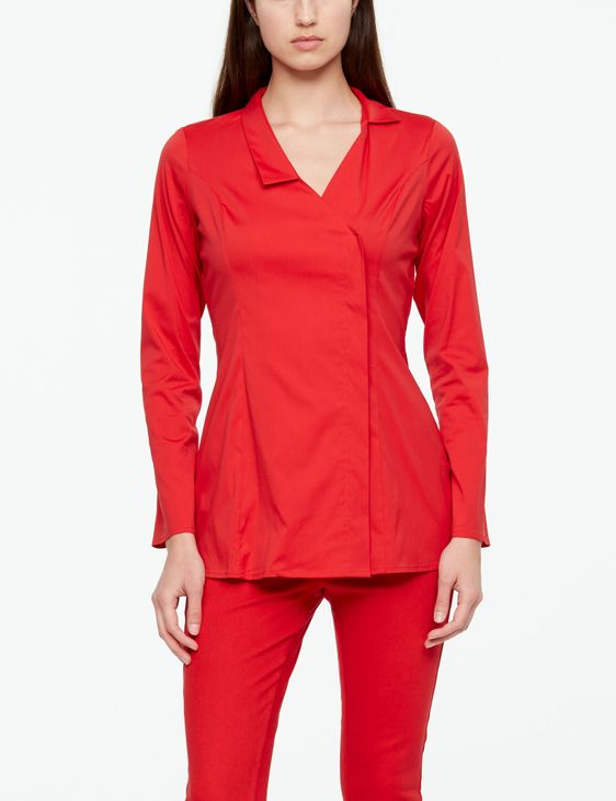 Sarah Pacini STRETCH-COTTON SHIRT