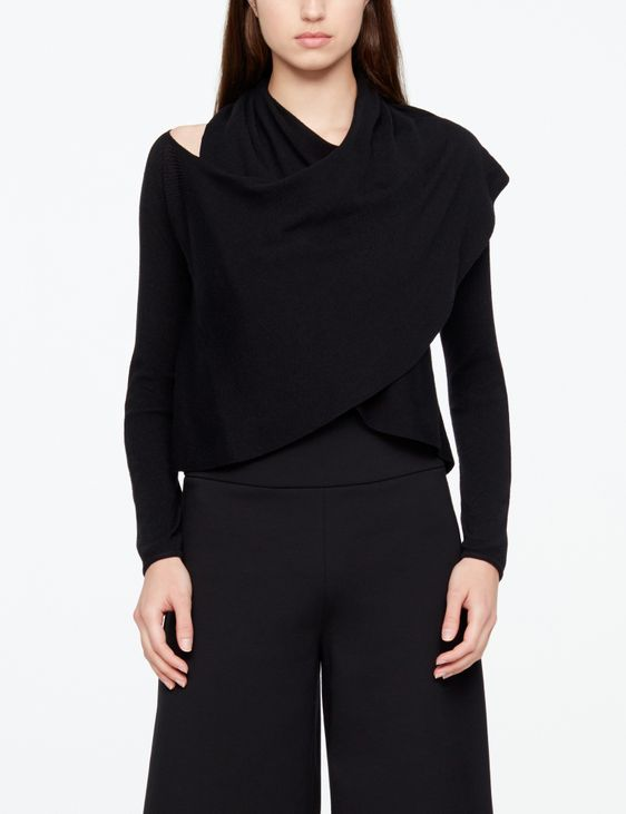 Sarah Pacini WOLLPULLOVER - FRONT TWIST