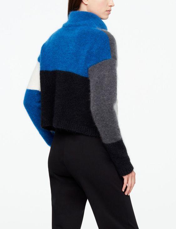 Sarah Pacini SHORT CARDIGAN - COLOR-BLOCK