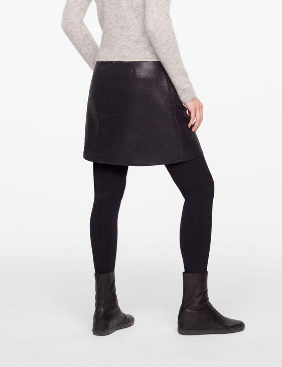 Sarah Pacini SHORT SKIRT - LEATHER SHEEN