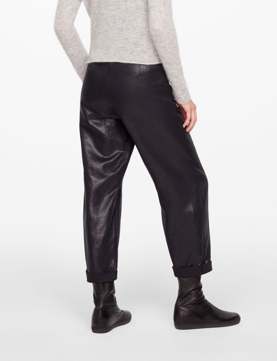 Sarah Pacini CROPPED PANTS - LEATHER SHEEN