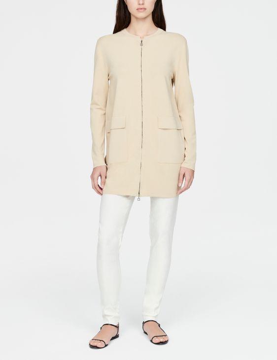 Sarah Pacini Long cardigan - front zipper