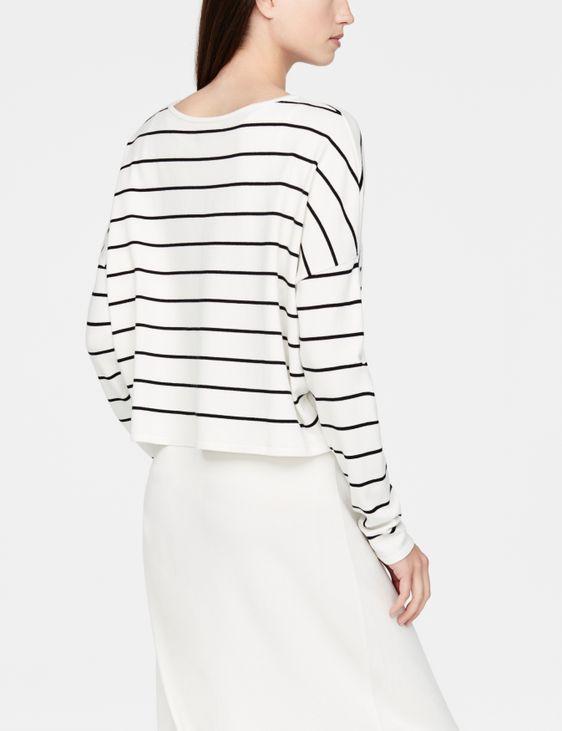 Sarah Pacini Short sweater - stripes
