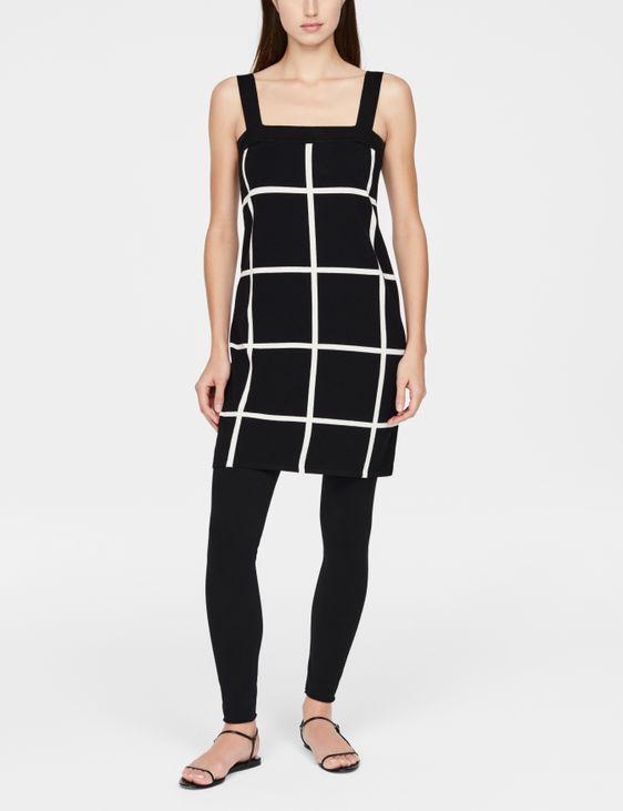 Sarah Pacini Light dress - grid motif