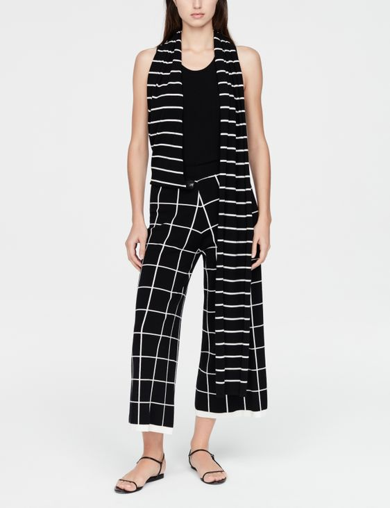 Sarah Pacini Pantalon style gaucho - écharpe