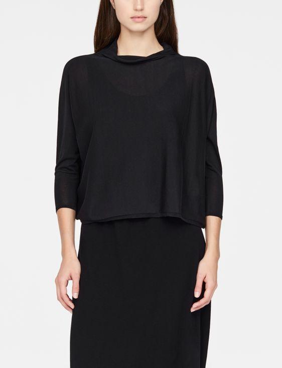 Sarah Pacini Mako cotton sweater - ¾ sleeves