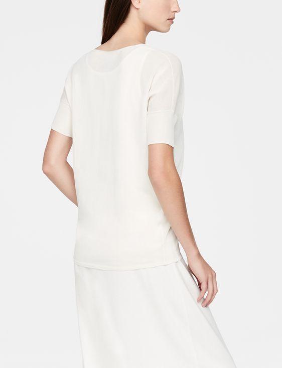Sarah Pacini Mako cotton sweater - short sleeves