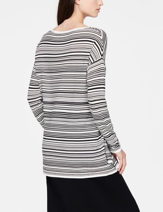 Sarah Pacini Asymmetric sweater - stripes