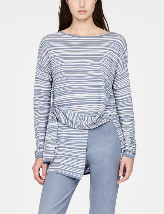 Sarah Pacini Asymmetrischer Pullover - Streifen