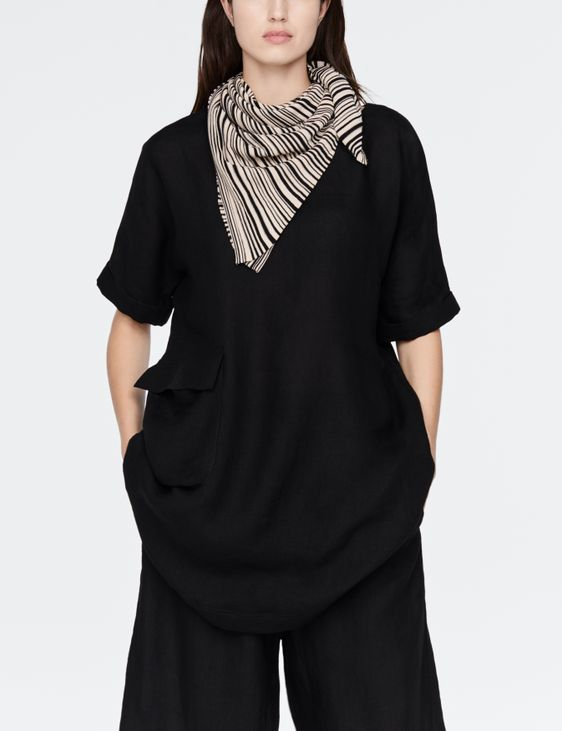 Sarah Pacini Mako cotton scarf - stripes
